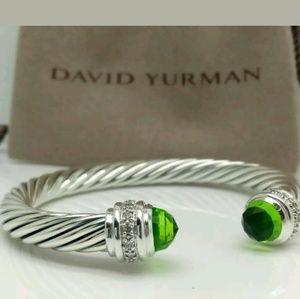 David Yurman 77 MM  925 Diamond Peridot. Bracelet